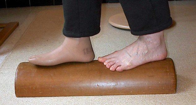 evenwicht met een prothese