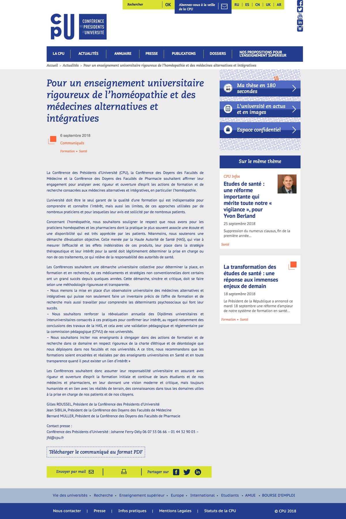 Pour-un-enseignement-universitaire-rigoureux-de-l'homéopathie-et-des-médecines-alternatives-et-intégratives-_-CPU---Conférence-des-présidents-d'université-(2018-09-28-13-38-35)