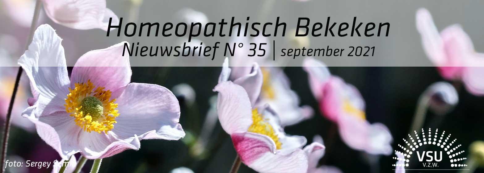 Nieuwsbrief Homeopathisch Bekeken N° 35, september 2021